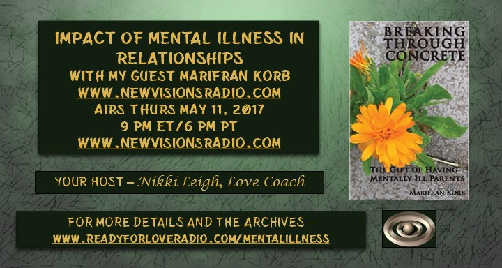 Impact of Mental Illness on Relationships on Ready for Love Radio with Nikki Leigh Love Coach